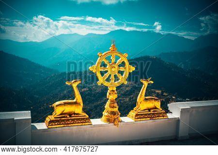Buddhist Monastery Nepal Near Stupa Namobuddha Himalayas