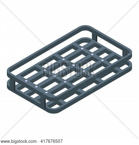 Car Roof Steel Frame Icon. Isometric Of Car Roof Steel Frame Vector Icon For Web Design Isolated On