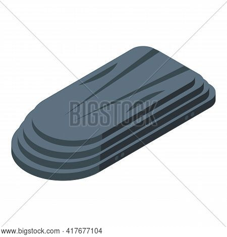 Car Roof Baggage Carrier Icon. Isometric Of Car Roof Baggage Carrier Vector Icon For Web Design Isol
