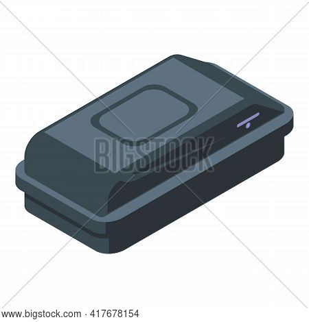 Plastic Car Roof Box Icon. Isometric Of Plastic Car Roof Box Vector Icon For Web Design Isolated On