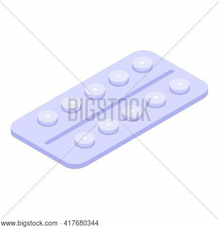 Allergy Tablets Icon. Isometric Of Allergy Tablets Vector Icon For Web Design Isolated On White Back