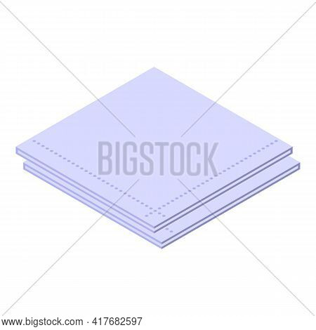 Cleaning Handkerchief Icon. Isometric Of Cleaning Handkerchief Vector Icon For Web Design Isolated O