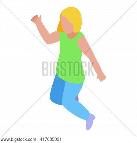 Hyperactivity Kid Jump Icon. Isometric Of Hyperactivity Kid Jump Vector Icon For Web Design Isolated