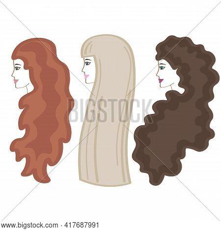 Long Hair In Girls. Blonde, Brunette, Brown-haired