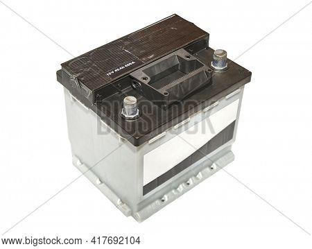 12 volt starter battery of a car