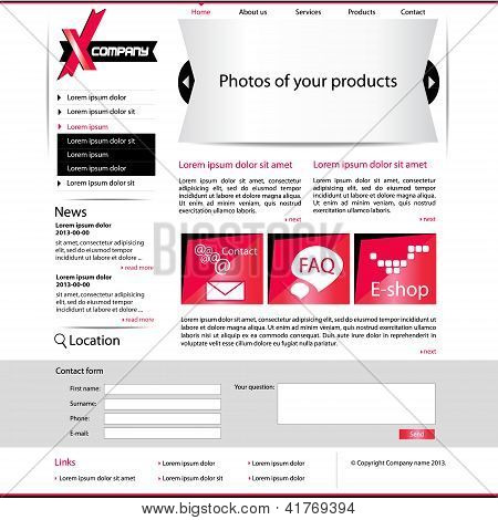Vector modern webdesign - web page template