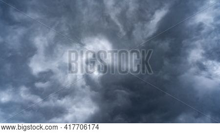 Sky And Black Cloud Or Dark Grey Storm Clouds And Dark Stormy Cloudy In Nature Storm Clouds At Sunse