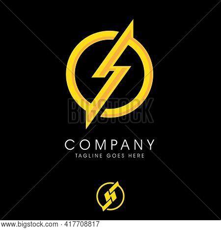 Hs Or Sh Monogram Sporty Logo. Vector