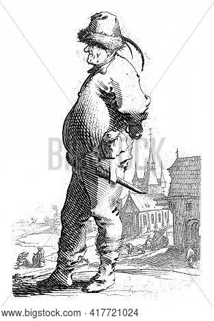 The print is part of a twelve-part series of prints depicting farmers.
