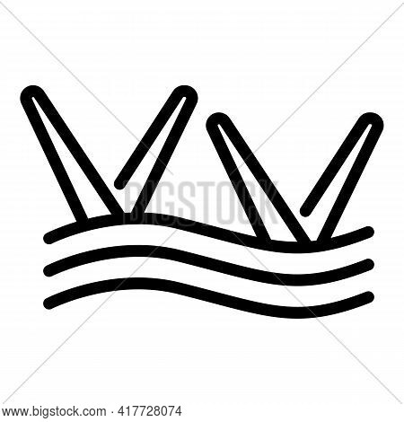 Synchronized Swimming Icon. Outline Synchronized Swimming Vector Icon For Web Design Isolated On Whi