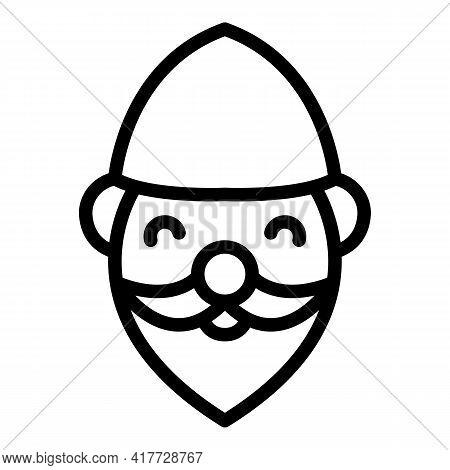 Ceramic Gnome Icon. Outline Ceramic Gnome Vector Icon For Web Design Isolated On White Background