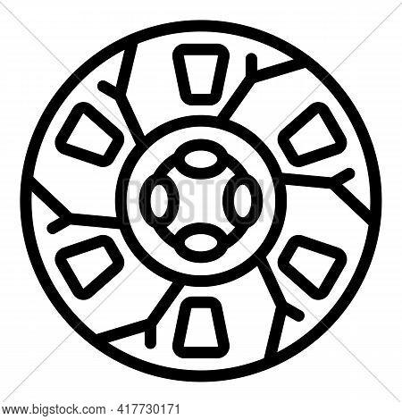 Clutch Disc Icon. Outline Clutch Disc Vector Icon For Web Design Isolated On White Background