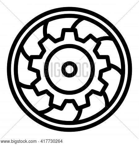 Clutch Car Device Icon. Outline Clutch Car Device Vector Icon For Web Design Isolated On White Backg