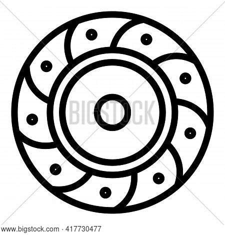 Friction Clutch Icon. Outline Friction Clutch Vector Icon For Web Design Isolated On White Backgroun