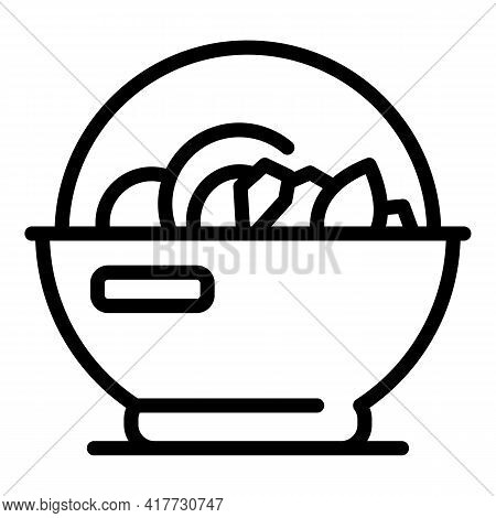 Takeaway Salad Icon. Outline Takeaway Salad Vector Icon For Web Design Isolated On White Background