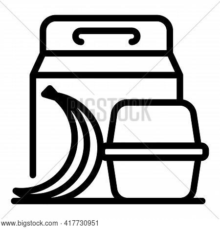 Fruit Snack Icon. Outline Fruit Snack Vector Icon For Web Design Isolated On White Background