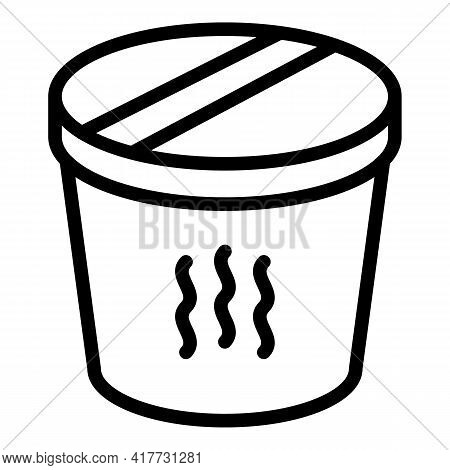Food Thermos Icon. Outline Food Thermos Vector Icon For Web Design Isolated On White Background