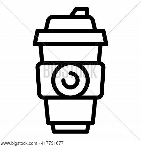 Takeaway Drink Icon. Outline Takeaway Drink Vector Icon For Web Design Isolated On White Background