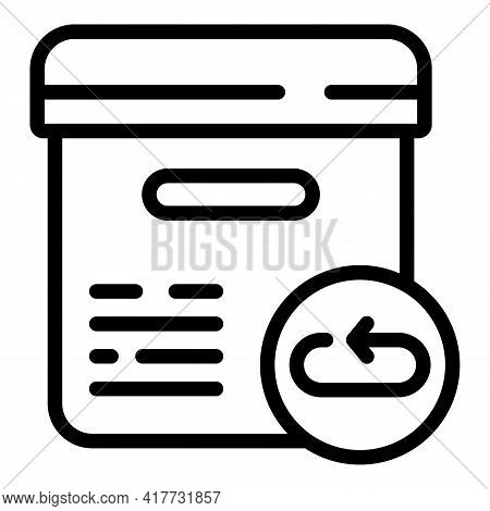 Return Product Icon. Outline Return Product Vector Icon For Web Design Isolated On White Background