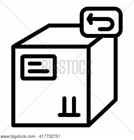 Return Policy Icon. Outline Return Policy Vector Icon For Web Design Isolated On White Background