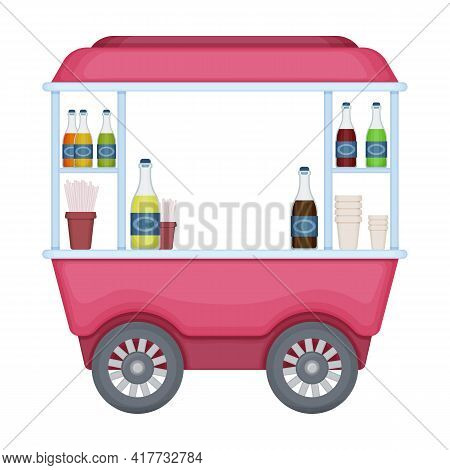 Food Trailer Vector Icon.cartoon Vector Icon Isolated On White Background Food Trailer.