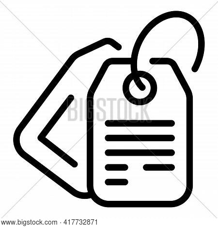 Parcel Tag Icon. Outline Parcel Tag Vector Icon For Web Design Isolated On White Background