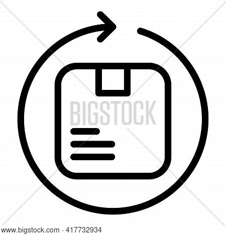 Return Process Icon. Outline Return Process Vector Icon For Web Design Isolated On White Background
