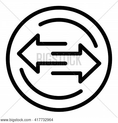 Exchange Process Icon. Outline Exchange Process Vector Icon For Web Design Isolated On White Backgro