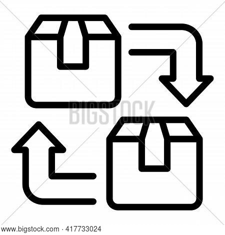 Parcel Replacement Icon. Outline Parcel Replacement Vector Icon For Web Design Isolated On White Bac