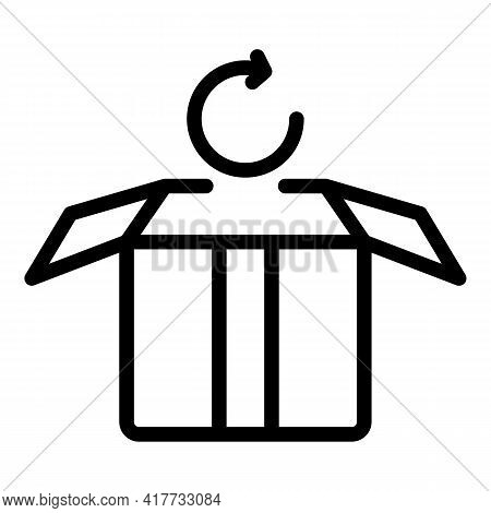 Purchase Return Icon. Outline Purchase Return Vector Icon For Web Design Isolated On White Backgroun