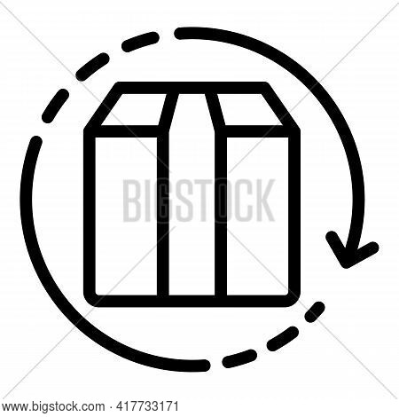 Exchange Cargo Box Icon. Outline Exchange Cargo Box Vector Icon For Web Design Isolated On White Bac