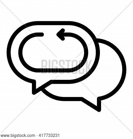 Return Chat Icon. Outline Return Chat Vector Icon For Web Design Isolated On White Background