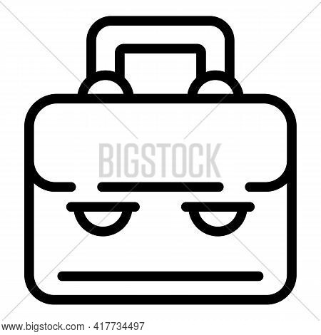 School Suitcase Icon. Outline School Suitcase Vector Icon For Web Design Isolated On White Backgroun