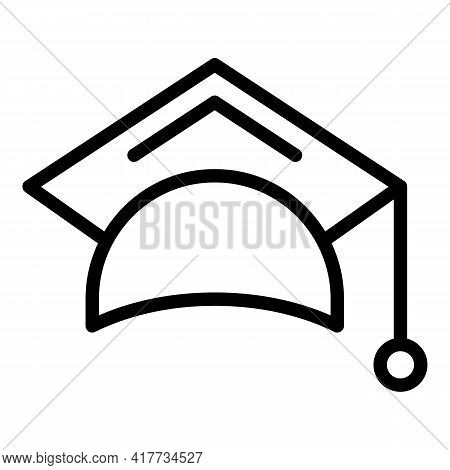 Education Cap Icon. Outline Education Cap Vector Icon For Web Design Isolated On White Background