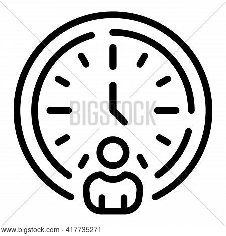 Student Time Icon. Outline Student Time Vector Icon For Web Design Isolated On White Background