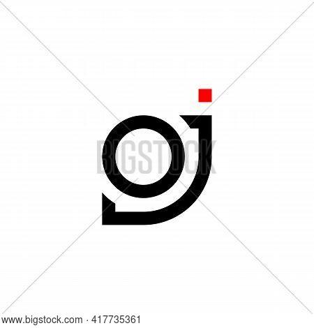 Illustration Vector Design Graphic Of Logo Letter Oj