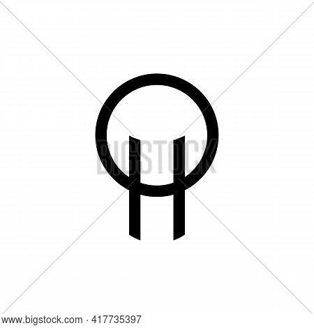 Illustration Vector Design Graphic Of Logo Letter Oh