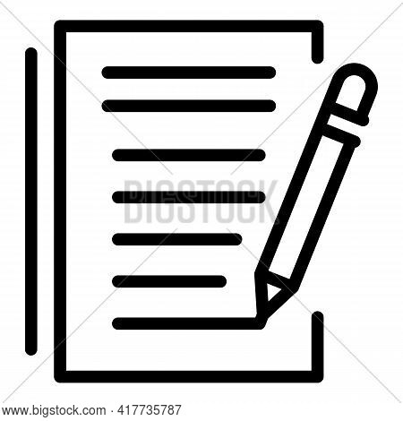 Course Writing Icon. Outline Course Writing Vector Icon For Web Design Isolated On White Background