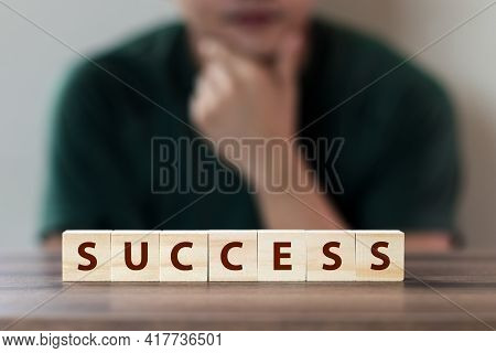 Process For Success Concept. Business Strategy And Future Sustainable Business Finance Action Plan.