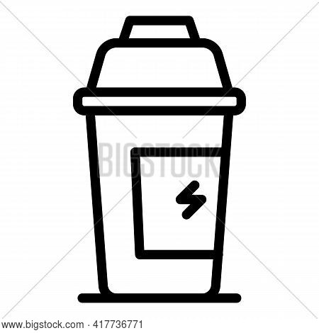Protein Shake Icon. Outline Protein Shake Vector Icon For Web Design Isolated On White Background