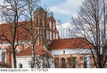 Detail Of The Church Of St. Francis And Bernadine In Vilnius, Lithuania