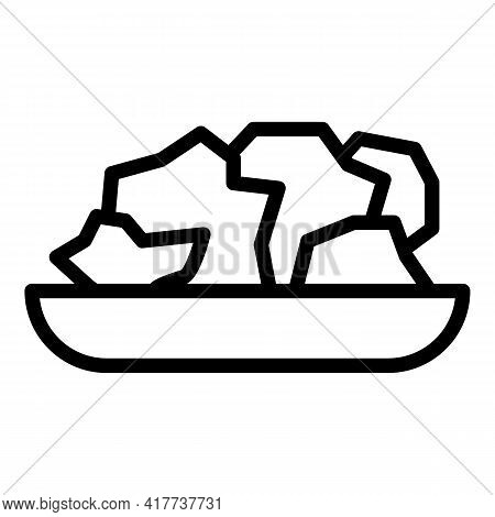 Protein Food Nutrition Icon. Outline Protein Food Nutrition Vector Icon For Web Design Isolated On W