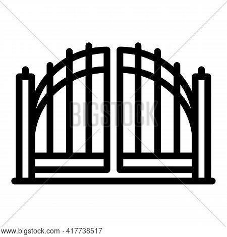 Sensor Gate Icon. Outline Sensor Gate Vector Icon For Web Design Isolated On White Background