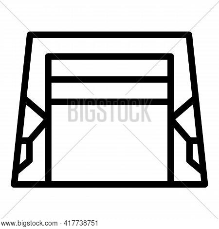 Smart Garage System Icon. Outline Smart Garage System Vector Icon For Web Design Isolated On White B