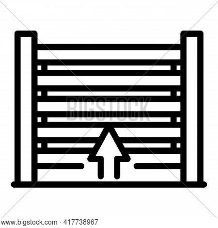 Garage Shutter Icon. Outline Garage Shutter Vector Icon For Web Design Isolated On White Background