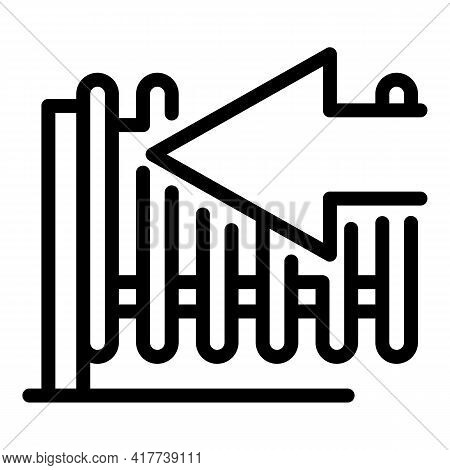 Automatic Fence Icon. Outline Automatic Fence Vector Icon For Web Design Isolated On White Backgroun