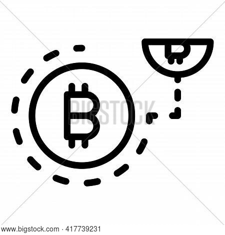 Blockchain Icon. Outline Blockchain Vector Icon For Web Design Isolated On White Background