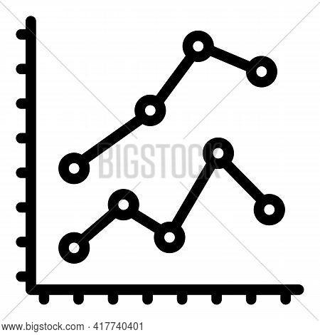 Bitcoin Analysis Data Icon. Outline Bitcoin Analysis Data Vector Icon For Web Design Isolated On Whi