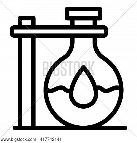 Water Flask Icon. Outline Water Flask Vector Icon For Web Design Isolated On White Background