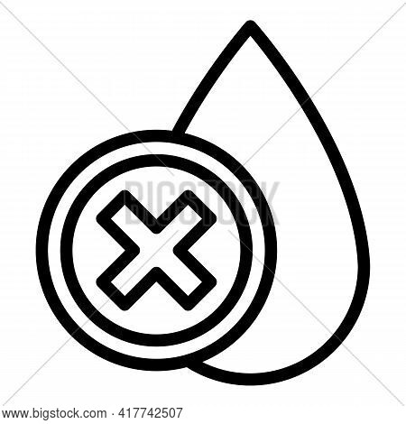 Dirty Water Drop Icon. Outline Dirty Water Drop Vector Icon For Web Design Isolated On White Backgro